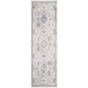 Ozabelino Cream/Beige 2 ft. 2 in. x 7 ft. 6 in. Oriental Polypropylene Area Rug