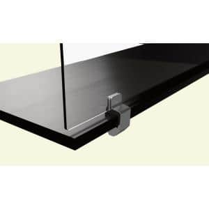 Sneeze Guard 72 in. x 36 in. x 0.25 in. Clear Acrylic Protection Shield with Alum Desk Clamp Brackets and Pass Through