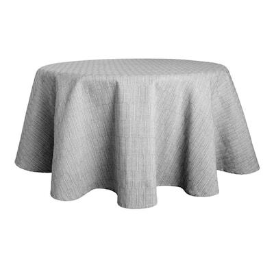 70 in. Round, Grey Martha Stewart Honeycomb Round Tablecloth, Modern Farmhouse