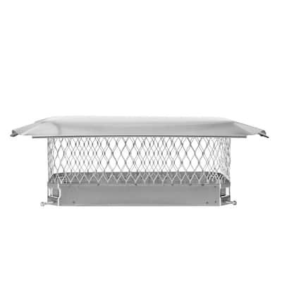 18 in. x 9 in. Bolt-On Single Flue Chimney Cap in Stainless Steel