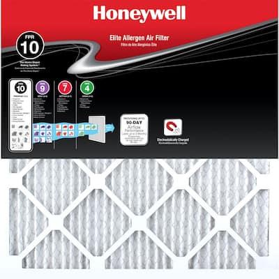20  x 25  x 1  Elite Allergen Pleated FPR 10 Air Filter (4-Pack)