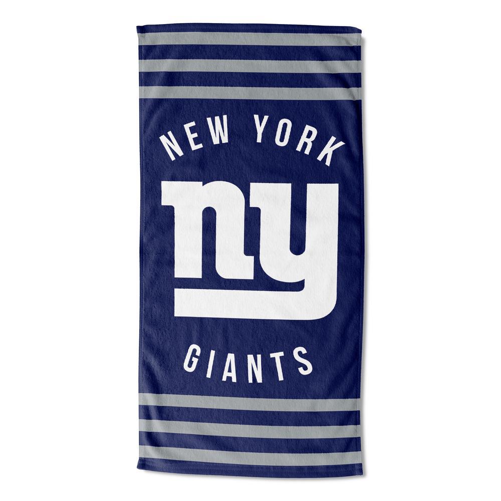 NY Giants Stripes Multi Colored Beach Towel