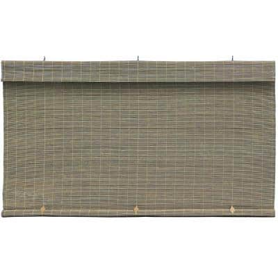 Driftwood Cordless Light Filtering Interior/Exterior Matchstick Bamboo Blind Manual Roll-Up Shade 72 in. W x 72 in. L