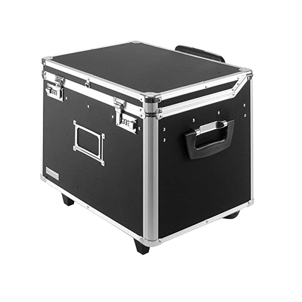 Letter//Legal Wheelie Case Vaultz VZ03915 Locking Mobile Rolling File Storage Chest
