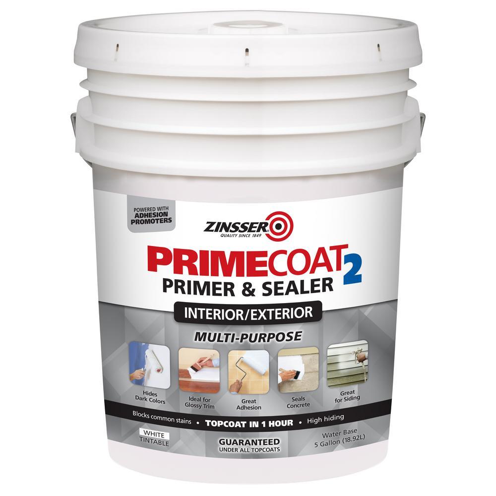 PrimeCoat2 5 gal. White Water-Based Interior/Exterior Multi-Purpose Primer & Sealer