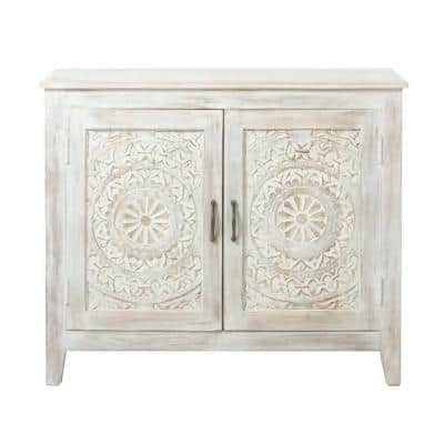 Chennai White Wash Nightstand
