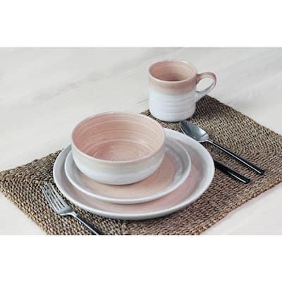 Hearth 16-Piece Casual Blush Ceramic Dinnerware Set (Service for 4)