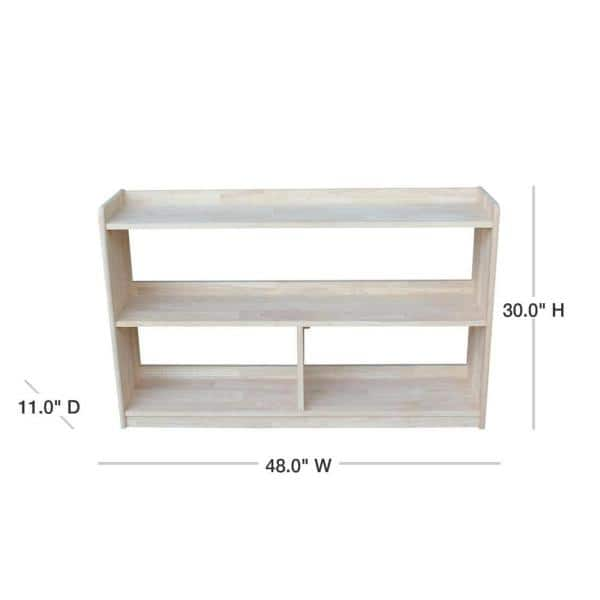 International Concepts 30 in. Unfinished Wood 4-shelf Unfinished