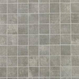 Essential Cement Ash 11.81 in. x 11.81 in. Matte Porcelain Mosaic Floor and Wall Tile (0.97 sq. ft./ each)