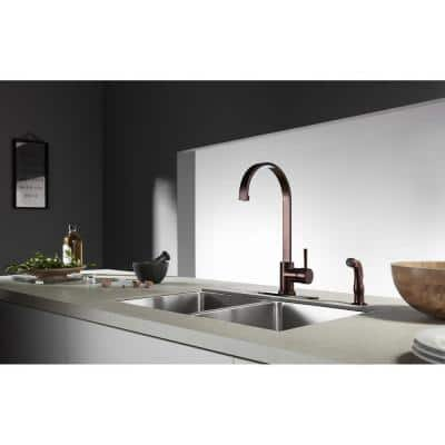 Concord Single-Handle Standard Kitchen Faucet with Side Sprayer in Oil Rubbed Bronze