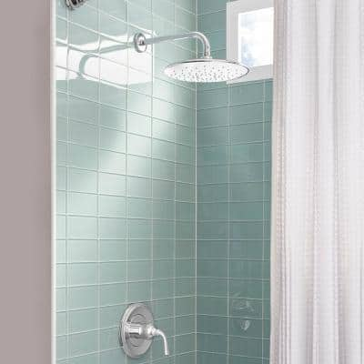 Spectra+ 1-Spray Patterns 11 in. Single Wall Mount Fixed Shower Head in Polished Chrome