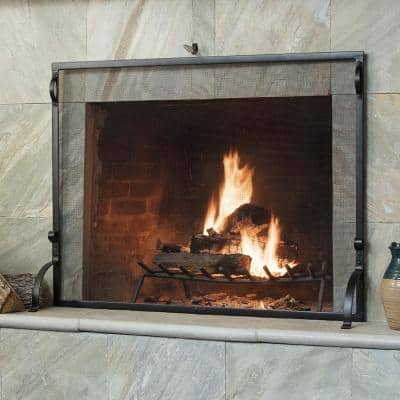 Modern Fireplace Screens Fireplaces The Home Depot