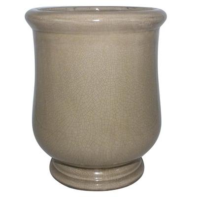 10.5 in. Grey Lugano Ceramic Urn