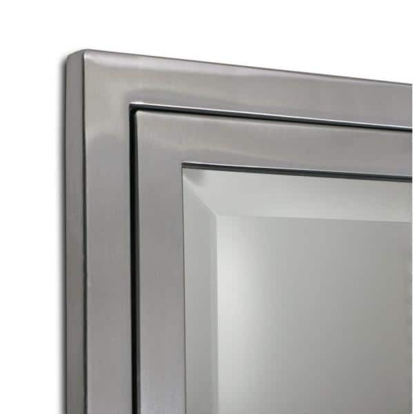 Deco Mirror 16 In W X 26 H 3 1 2, Metal Framed Recessed Bathroom Medicine Cabinet With Mirror Black