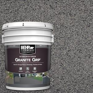 5 Gal. Gray Granite Grip Decorative Flat Interior/Exterior Concrete Floor Coating