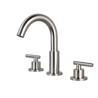 Patterson 8 in. Widespread 2-Handle Bathroom Faucet in Brushed Nickel (1-Pack)