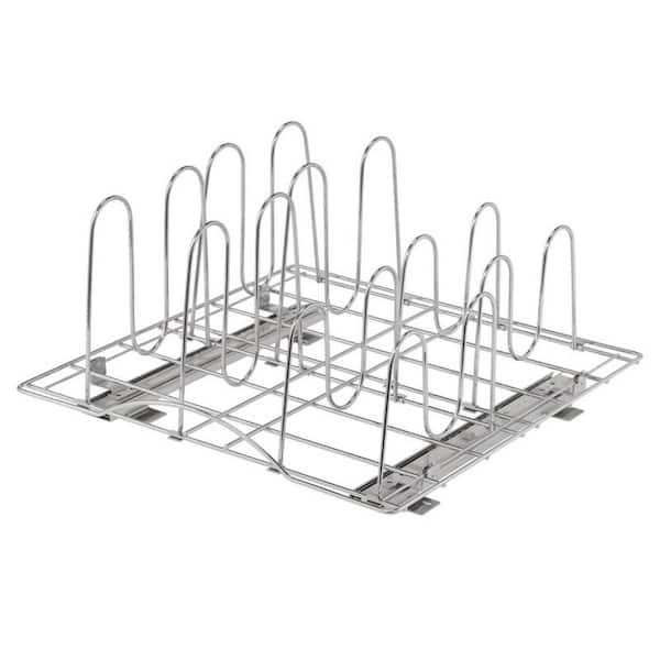 TRINITY - 20 in. Deep Steel Sliding Pot Organizer in Chrome