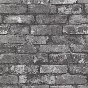 Debs Grey Exposed Brick Grey Wallpaper Sample