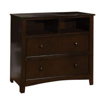 Corry Dark Walnut Media Chest