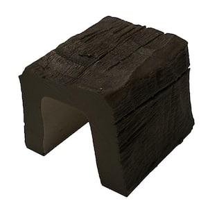 5 in. x 5 in. x 6 in. Long Dark Walnut Hand Hewn Faux Wood Beam Sample