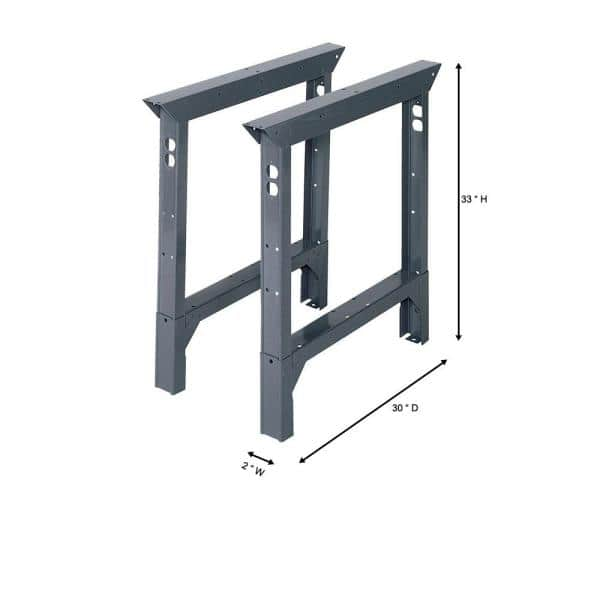 Edsal 33 In H X 2 W 30 D Steel Adjustable Height Workbench Legs Abl30 The Home Depot - How To Adjust Keter Table Legs