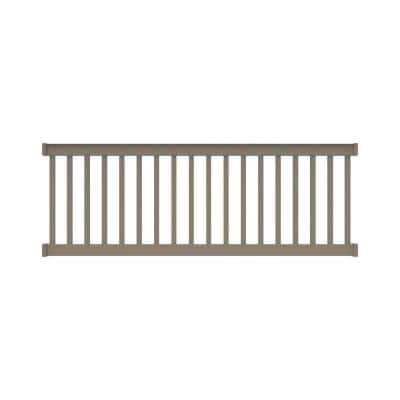 Finyl Line 8 ft. x 36 in. H Deck Top Level Rail Kit in Earth