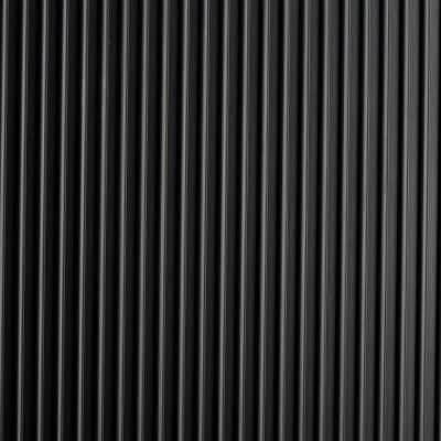 Black Round Ribbed 36 in. x 75 ft. Antimicrobial Vinyl Commercial Grade Runner Matting