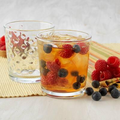 Awa 16-Piece Clear Glass Drinkware Set