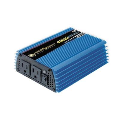 12-Volt DC to AC 400-Watt Power Inverter