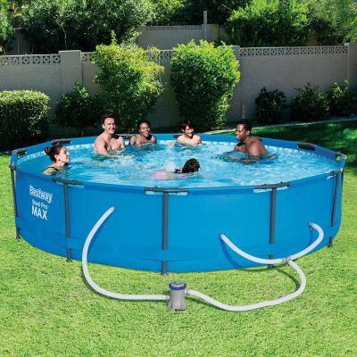 Steel Pro 12 ft. Round x 30 in. Deep Above Ground Pool Package