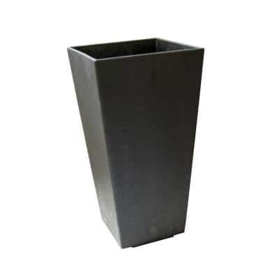 10 in. x 20 in. Slate Rubber Self-Watering Planter
