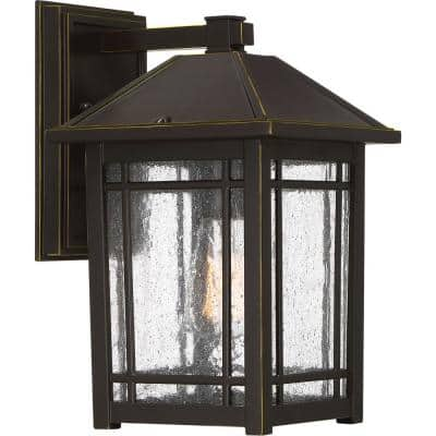 Cedar Point 1-Light Bronze Outdoor Wall Lantern Sconce
