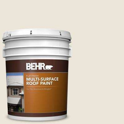 5 gal. #MS-32 Glacier White Flat Multi-Surface Exterior Roof Paint