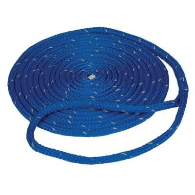 3/8 in. x 15 ft. Reflective Dock Line Double Braid Nylon Rope, Blue