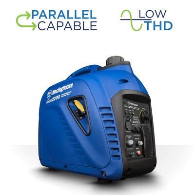 iGen2200 2,200/1,800 Watt Gas Powered Portable Inverter Generator with Enhanced Fuel Efficiency and Parallel Capability