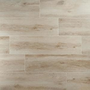 Briarwood Sepia 9.84 in. x 39.4 in. Matte Porcelain Floor and Wall Tile (16.14 sq. ft./Case)