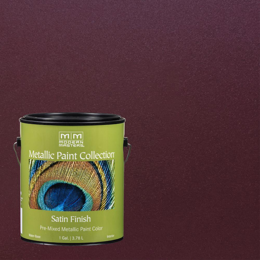 1 gal. Black Cherry Water-Based Satin Metallic Interior Paint