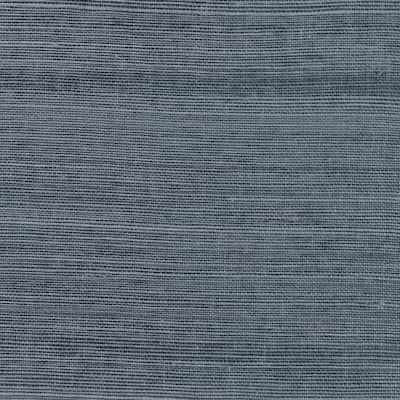 Victoria Indigo Grasscloth Wallpaper Sample