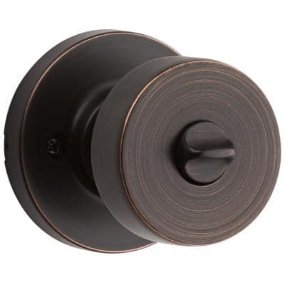 Pismo Round Venetian Bronze Bed/Bath Door Knob Featuring Microban Antimicrobial Technology