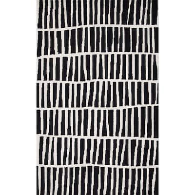 Lemuel Geometric Black 10 ft. x 14 ft. Area Rug