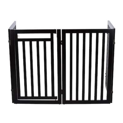 4 Part Convertible Wooden Dog Gate