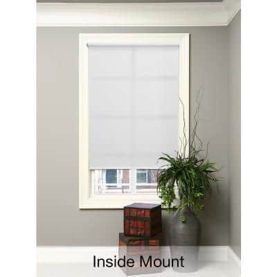Cut-to-Size White Cordless Light Filtering Fade resistant Roller Shades 53.5 in. W x 72 in. L