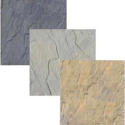 Yorkstone 6 in. x 6 in. x 1.5 in. Multi-Color Concrete Paver Sample Box (3-Pieces)
