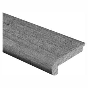 Matte Corbin Mahogany 3/8 in. Thick x 2-3/4 in. Wide x 94 in. Length Hardwood Stair Nose Molding Flush