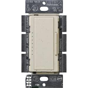 Maestro 600-Watt Multi-Location Electronic Low-Voltage Digital Dimmer, Limestone