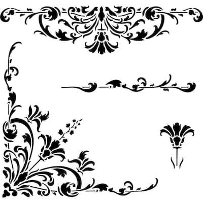 Turn of the Century Stencil Details