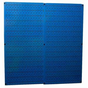 32 in. x 32 in. Overall Size Blue Metal Pegboard Pack with Two 32 in. x 16 in. Pegboards