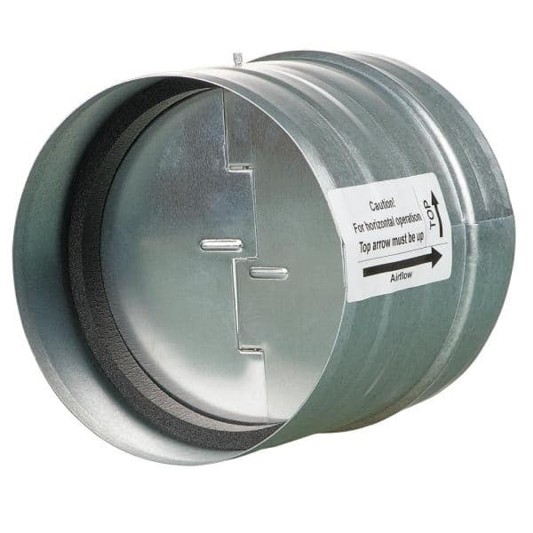 Vents Us 4 In Galvanized Back Draft Damper With Rubber Seal Kom 100 U The Home Depot