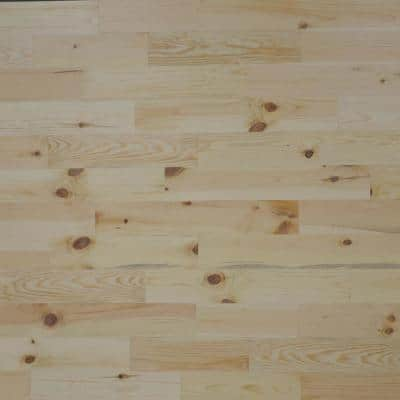 1/8 in. x 4 in. x 12-42 in. Pine Peel and Stick Blonde Wooden Decorative Wall Paneling (20 sq. ft./Box)