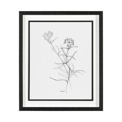 Arrangement II Framed Botanical Nature Art Print 21.5 x 25.5